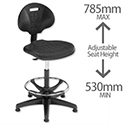 Lab High Chair Gas Lift Seat Black Trexus