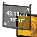 Compucessory Glass Screen Filter Anti-glare-radiation-static CRT and LCD 16-17in Black Frame CCS20552