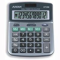 Aurora Desktop Calculator Battery Solar-power DT398