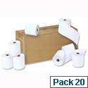 Credit Card Rolls Carbonless 2-ply 57x55x12.7mm Length 16m White and Yellow CC10 Pack 20