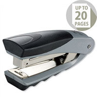 Rexel Centor Half Strip Stapler Vertical 65mm Throat Capacity 20 Sheets Silver/Black