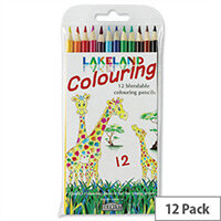 Lakeland Blendable Colouring Pencils Soft Assorted Pack 12