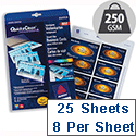 Avery C32028-25 Business Cards Gloss Inkjet 8 per Sheet 250gsm 200 Cards