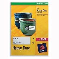 Avery L4775-20 Heavy Duty Labels Laser White 210x297mm 20 Labels