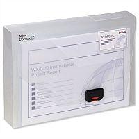 A4 Box File Clear Plastic Push Lock 25mm Spine Pukka