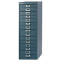 Bisley 15-Drawer Steel Storage Cabinet Doulton Blue
