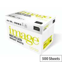 Image Recycled Bright White 100% Recycled A4 210x297mm 100gm2 Packed 500