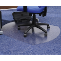 Chair Mat Contoured for Carpet Protection 990x1250mm Cleartex
