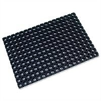 Octo Door Mat Indoor and Outdoor Rubber 600mmx800mm Black Doortex