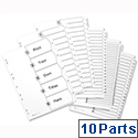 Avery 1-10 A4 Index White