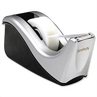 Scotch Magic Tape Contour Dispenser Desktop Weighted with 1 Roll 19mmx33m Grey