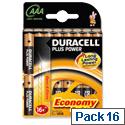 Duracell Plus Power AAA Battery Alkaline 1.5V (Pack 16)