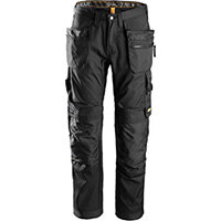 """Snickers 6200 AllroundWork Trousers Plus Holster Pockets Black W30"""" L30"""" Size 88 WW1"""