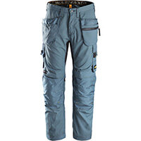 """Snickers 6200 AllroundWork Trousers Plus Holster Pockets Petrol W30"""" L30"""" Size 88 WW1"""