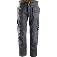 """Snickers 6200 AllroundWork Trousers Plus Holster Pockets Steel Grey W30"""" L30"""" Size 88 WW1"""