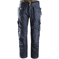 """Snickers 6200 AllroundWork Trousers Plus Holster Pockets Navy W30"""" L30"""" Size 88 WW1"""