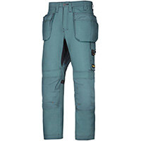 """Snickers 6201 AllroundWork Holster Pockets Trousers Petrol W30"""" L30"""" Size 88 WW1"""