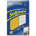 Sellotape Sticky Hook and Loop Pads 24 Sets 20x20mm
