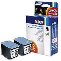 Samsung M40V Black Ink Cartridge Black Pack 2