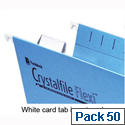 Twinlock Crystalfile Flexifile Card Inserts for Suspension File Tabs White 3000058 Pack 50