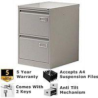2-Drawer Filing Cabinet Goose Grey Bisley PSF