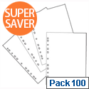 Whitebox Pockets Multi Punched 60 Microns A4 Clear [Pack 100]