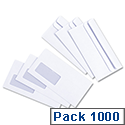 Dl envelopes 1000 pack