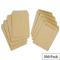 White Box C5 Envelopes 80gsm Manilla Pocket Self Seal Pack 500