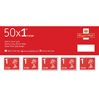 Royal Mail First Class Large Letter Stamps [Pack of 50]