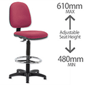 High Rise Draughtsman Chair Burgundy Trexus
