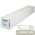 HP C6029C White Heavyweight Coated Plotter Paper Roll 610mm x 30.5m 130gsm