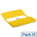 Bright Manilla Foolscap Document Wallet Yellow Pack 25 Elba