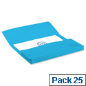 Bright Manilla Foolscap Document Wallet Blue Pack 25 Elba