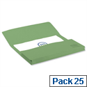 Bright Manilla Foolscap Document Wallet Green Pack 25 Elba