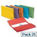 Bright Manilla Foolscap Document Wallet Assorted Pack 25 Elba