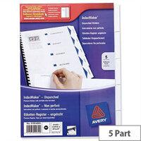 Avery 5 Part Index Maker Divider Set 01814061