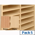 Post Room Shelves for Sorter Base Maple Pack 5 Tercel