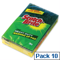 Scotch-Brite Washing-up Pad Scourer and Sponge Ref 1821 Pack 10 661532
