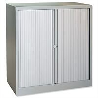 Trexus Tambour Cupboard Steel Side-opening W1000xD470xH1016mm Grey