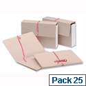 Legal Wallets Croydon Manilla Pink Ribbon Gusset Foolscap Pack 25 Guildhall