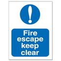 Stewart Superior Fire Escape Keep Clear Self Adhesive Sign