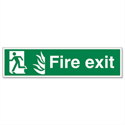 Man Left Fire Exit Sign Standard And Photoluminescent SP083PVC