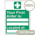 Your First-Aider Is Located At Sign SP049SAV