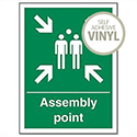 Fire Assembly Point Sign Self Adhesive SPO52PVC