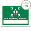 Your Nearest Assembly Point Is Sign Self Adhesive SP076PVC