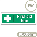 First Aid Box Sign Self Adhesive SP058PVC