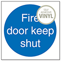 Fire Door Keep Shut Sign Sav Self Adhesive M014SAV Pack 5 686508