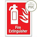 Fire Extinguisher Sign Self Adhesive FF071PVC 686583