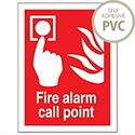 Fire Alarm Call Point Sign PVC Self Adhesive FF073PVC 686648