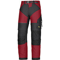 "Snickers 6903 FlexiWork Trousers Chill Red - Black W30"" L30"" Size 88 WW1"